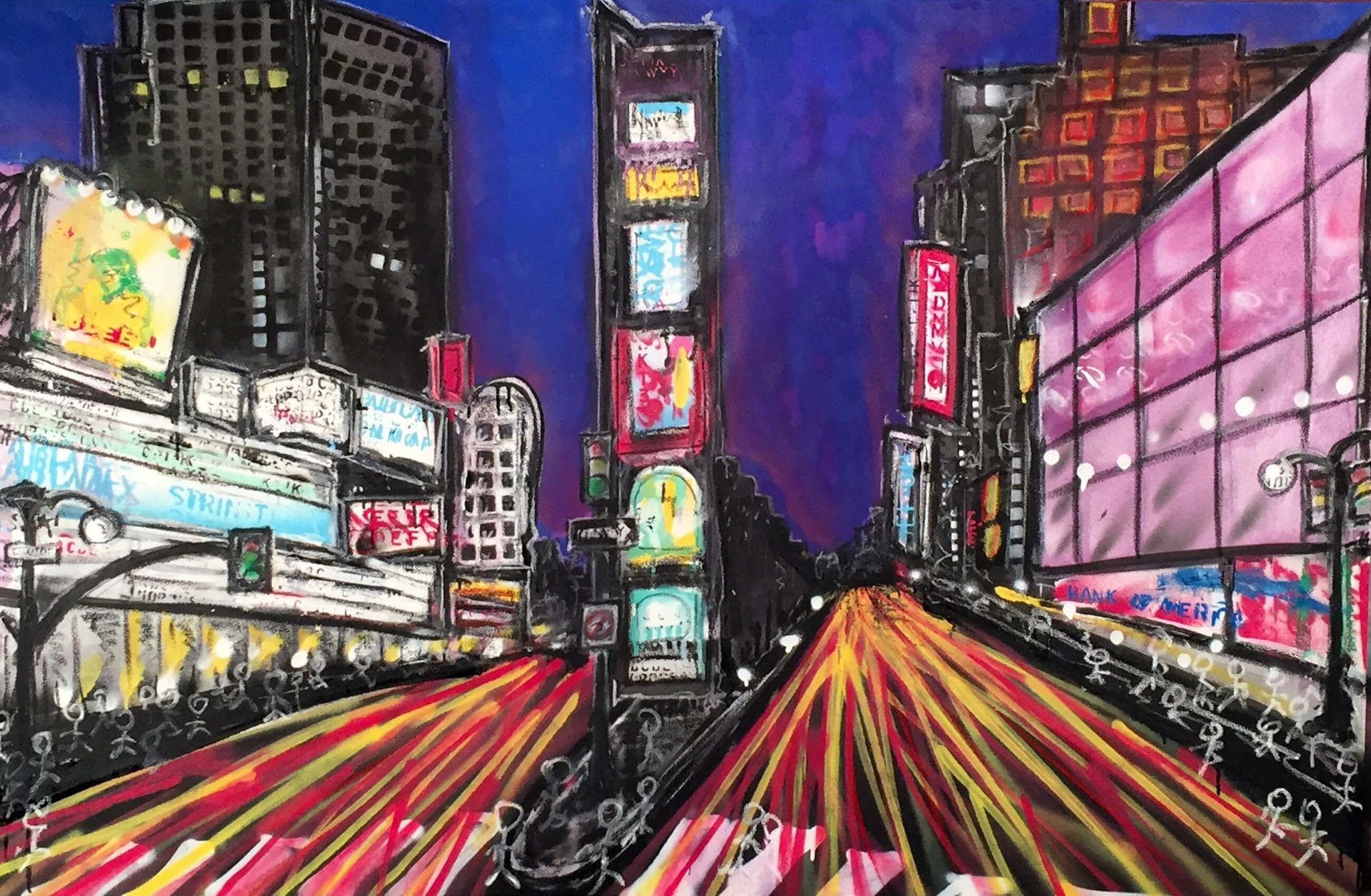 Time Square 38x58
